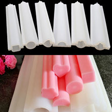 6 kinds Long silicone tube mold Small Size heart Shaped Silicone Tube Soap Mold pipe Moulds(China)