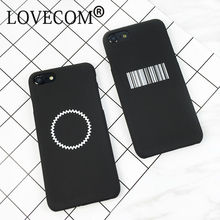 Fashion Geometry Case For iphone 6 Phone Case For iphone 5 5S SE Hard PC Cute Bar Code Saw Tooth Circle Cover Coque(China)