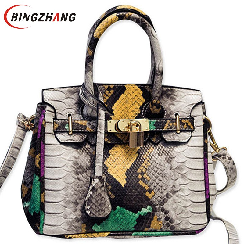 2017 New Summer Women Snake PU Leather Handbags Fashion Female Crossbody Bag Shoulder Messenger Bag for Ladies Totes L4-2562<br><br>Aliexpress