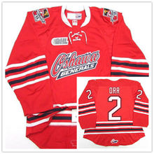 Oshawa Generals #2 Bobby Orr Red Hockey Jersey Embroidery Stitched Customize any number and name Jerseys(China)