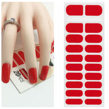 X.T XT Nail Polish Strips red Waterproof Non-toxic Nail Sticker Nail Art Decorations nail Art Sticker 1 Sheet/20pcs(China)