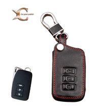 Zinc Alloy+Leather Car Key Cover Case Shell Bag For Lexus ES240 RX350 rx270 IS250 GS300 RX200t ES200 250300h NX200t IS Car Key(China)