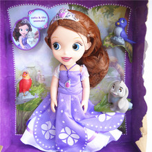 Original edition My little cute Sofia the First princess Bobbi doll Beautiful VINYL toy girl Doll For Kids Best Gift(China)