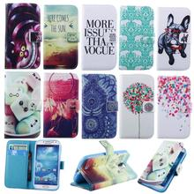 Fashion Wallet S4 Flip PU Leather Cover Case for Samsung Galaxy S4 i9500 Phone Bag Fundas With Stand & Card Holder Coque Cases(China)
