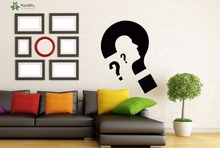YOYOYU Wall Decal Man Thoughts Pattern Home Decoration Accessories Vinyl Art Wall Stickers Art Mural Modern Design Kids DIYSY978(China)