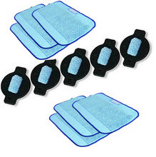 New Microfiber 6pcs Wet Pro-Clean Mopping Cloths & 5pcs Water Wick Cap kit for irobot Braava Minit 4200 5200 5200C 380 380t(China)