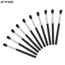 10pcs/Lot Eye Beauty Brushes Goat Hair Eyeshadow Foundation Mascara Blending Brush Eyes Crease Contour Makeup Tools For Women