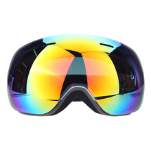 New Design Frameless Ski Goggle Snow Glasses UV- Protection Multi-Color Anti-fog Lens Snowboard Skiing Goggle with free bag