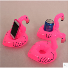 10 pcs Mini Cute fanny toys Red Flamingo Floating Inflatable Drink Can Holder Swimming Pool Bathing Beach Party Kids Bath Toy