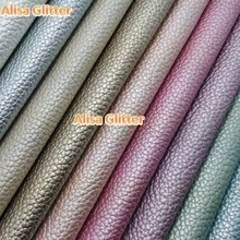 6pcs A4 21X29cm  Litchi Grain PU Leather Embossed Classic Fabric Faux Synthetic Leather  fit for DIY accessories Sewing GM035A6