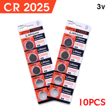 + Fast Selling + 10Pcs 3V Lithium Coin Cells Button Battery Watch Calculator Batteries CR2025 BR2025 DL2025 KCR2025 2025 L12