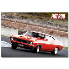 NICOLESHENTING Hot Rod Muscle Car Art Silk Fabric Poster Print Classic Car Pictures For Living Room Decor 031