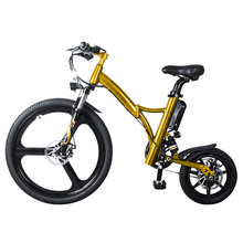 "26"" Front Wheel , 14"" Rear Wheel, 250W 36V/6.4AH Lithium Battery E Bike, Flash Folding Electric Bicycle, Electric Bike"