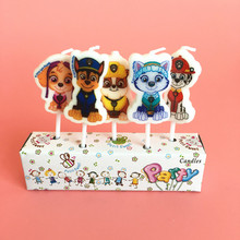 5pcs/packet Birthday Cartoon Dog Patrolling Candle Kids Birthday Party Supplies Cake Decoration
