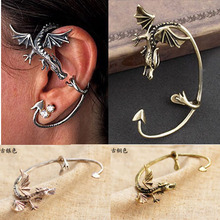 YouMap Vintage Personality Complex Gothic Punk Dragon Shaped Earring Non Pierced Ear Cuff Earrings Jewelry C9R1C