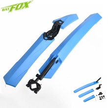 BATFOX Mountain Bike Fender Foldable Bicycle Mudguard Set PP Plastic Bike Front Rear Quick Release Mudguard Cycling Parts