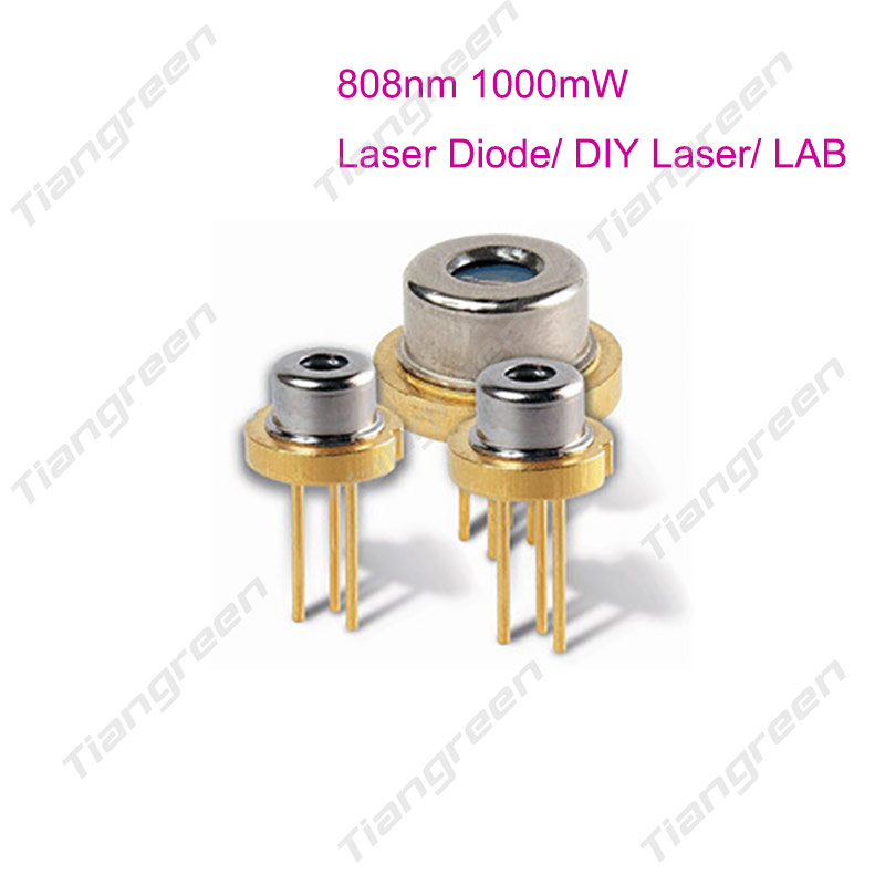 1000mW 808nm Laser Diode 9mm TO-5 IR LD 1W Laser Diode for DIY RGB Laser<br>