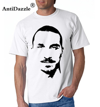 Antidazzle Sweden National Team Zlatan Ibrahimovic Fans T-shirt SWE 10 Pure Cotton Short-sleeve Tees Free shipping(China)