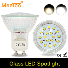 1PCS 5W GU10 Led Bulb Lamps AC220V 240V With Glass Cover Led Spotlight White Warm White For Home Lights With CE ROHS