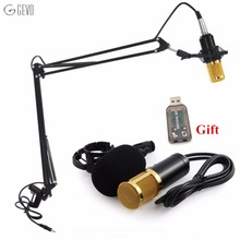GEVO BM 800 Professional 3.5mm Wired Sound Recording Condenser Microphone BM-800 NB-35 Microphone Stand For Computer Studios PC