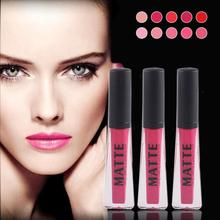 MISS ROSE 12Colors Long Lasting Lip Gloss Matte Lipgloss Waterproof Lip Tattoo Red Lip Cream Nude Makeup Lip Glaze Z3(China)