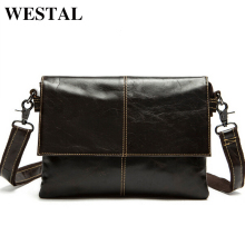 WESTAL Genuine Leather Men Bag Men Messenger Bags Shoulder Crossbody Bags for Man Handbag Casual Men's Leather Bag Hot Sale