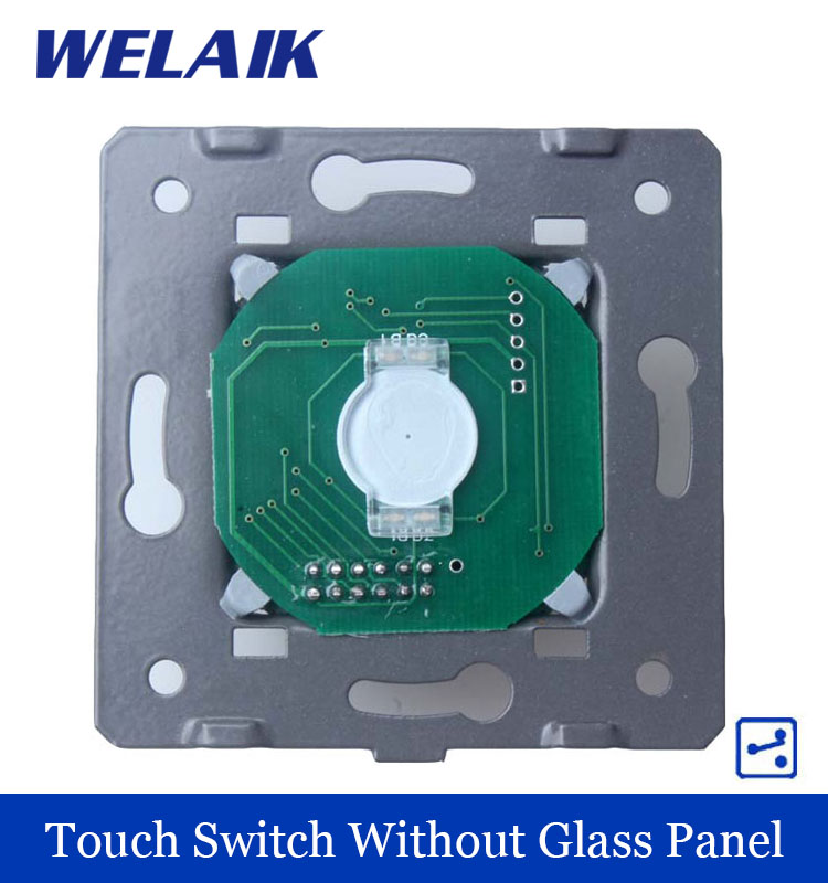 WELAIK Touch Switch DIY Parts Manufacturer Wall Switch EU 1gang2way Touch Screen Wall Light Switches for LED 110~250V A912<br><br>Aliexpress