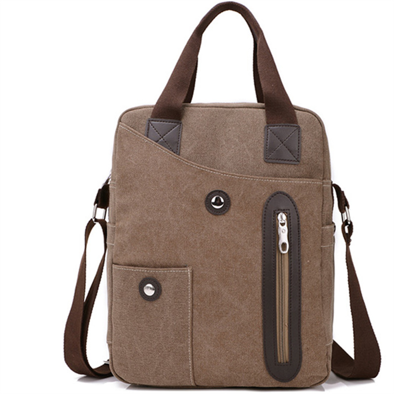 2017 new canvas bag business man bag vertical section handbag British style fashion casual messenger bag<br><br>Aliexpress