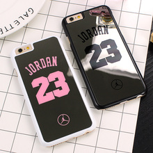 NBA brand Michael Jordan 23 Case For iPhone 6 6 Plus 5 5s SE Hard Mirror Phone Case Cover For iPhone Cases Shell Fundas