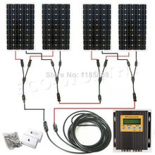 4*150W 18V mono solar panel + 20A MPPT charge controller 600W solar system * no taxis no duty(China)
