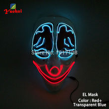 New design Halloween Mask LED Mask Flashing EL wire Glowing Flexible LED Neon light For dance DJ Carnival Trendy Party Supplies(China)