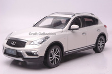 White 1/18 Infiniti QX50 2016 Diecast Model Cars Hot Selling Alloy Scale Models Limited Edition