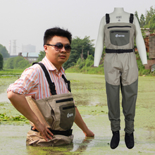 Waterproof pesca wader, stocking foot chest waders for hunting, fishing and rafting wading shoes(China)