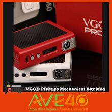 100% Original VGOD PRO150 Mechanical Box Mod E-Cigarette PRO 150 Box Mod 150W from AVE40 VS IJOY
