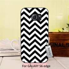 Simple black and white striped visual effects Hot Selling Fashion Black phone case cover For  s6  case