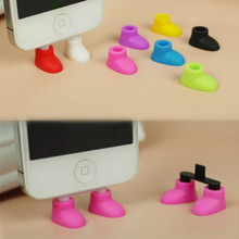 Best Price Charge Port Dust Plug Cute Shoes Feet Shaped Anti-dust Dustproof Stopper For Iphone 5