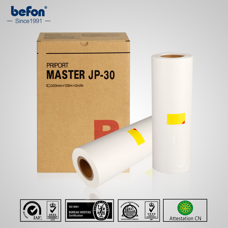 befon Master Roll JP-30 JP 30 A3 CPMT19 Compatible for Ricoh JP3000 3800 3810P<br>