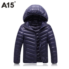 A15 Winter Jacket Boy Duck Down 2017 Design High Quality Teenager Jackets Boys Black Down Jacket for Girls Hooded Outerwear Coat(China)