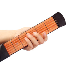 Portable Pocket Acoustic Guitar Practice Tool Gadget 6 String 6 Fret Model for Beginner(China)