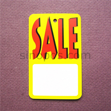 45x73mm Unstrung Sale Price Tag, square garment packaging label gift hang tag sale printed, promotional paper card ticket sign