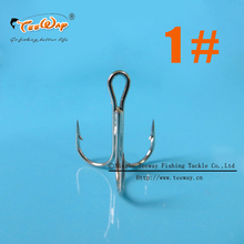 1# three fishing hook 50pcs/lot fishing equipment fishing hook are high carbon steel fishing tackle FH-S08(China)