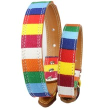 Pet Dog collar Designer perro Collar For Large Dog S M L XXL Leather Plain collar for big small dog Colorful Rainbow Dog collar