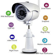 APEXIS Wifi Wireless/Wired 720P Digital Video Outdoor/Indoor IP Network Camera IP66 Waterproof Support IOS, Android or PC White(China)