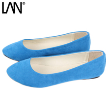 Buy Women Shoes Slip Womens Flats Shoes Loafers Faux Suede Womens Ballerina Flats Casual Comfort Ladies Shoes plus size 35-43 for $9.99 in AliExpress store