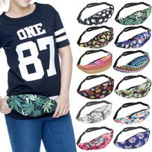 Waist Bags 3D Floral Men Women Hip Package Casual Candy Nylon Fanny Pack Travel Large Unsex Army Travel Wallet Waist Packs