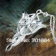 Free Shipping - Fashion Jewelry The 925 Sterling silver Arwen Evenstar Pendant Necklace