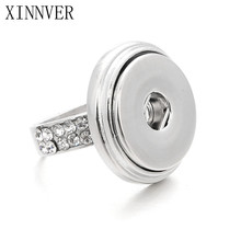 OEM ODM 4 size snaps rings elegant crystal metal buttons ring fit 18/20mm snaps xinnver snap snap buttons charm