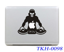 Double Disc DJ Cartoon Laptop Sticker Vinyl Decal For Apple Air Pro Retina 11 12 13 15 Macbook Stickers For Mac book 13.3 inch(China)