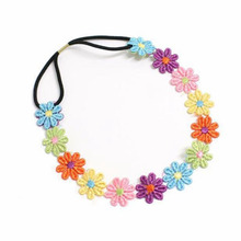 1PC   Girl Kids headband unique Embroidered Flowers Headband Hair Accessories Headwear cute flower crown hair accessories #48