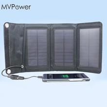 MVpower 5W Foldable Solar Battery Charger USB Power Bank Pack for Cellphone Black(China)